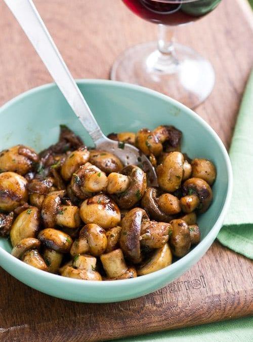 Recipe: Mushrooms in white wine sauce